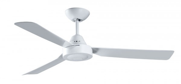 "BULLET - 48""/1220mm ABS 3 Blade Ceiling Fan - White - Indoor/Cov"