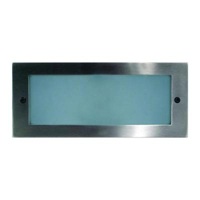 Recessed Brick Light with Plain 316 Stainless Steel Face