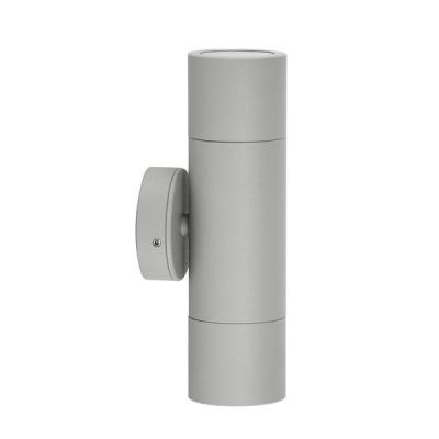 Up/Down Wall Pillar Light Silver